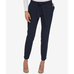 Tommy Hilfiger Belted Ankle Pants Midnight Color